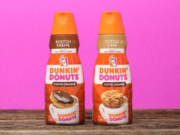 Enjoy Boston Kreme and Coffee Cake Creamers in Your Dunkin' Coffee at Home