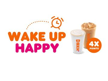 Earn 4X the Points with Dunkin' This Daylight Savings