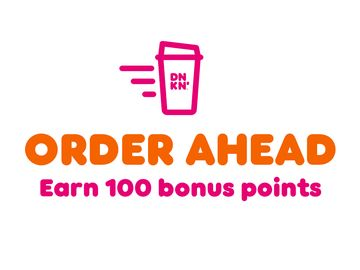 Dunkin' Rewards DD Perks® Members Who Order Ahead