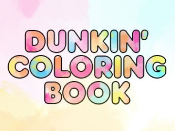 Download this Dunkin' Coloring Book for Some Easter Fun