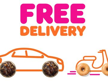 Dunkin' Offers Free Delivery with Grubhub Through April 19