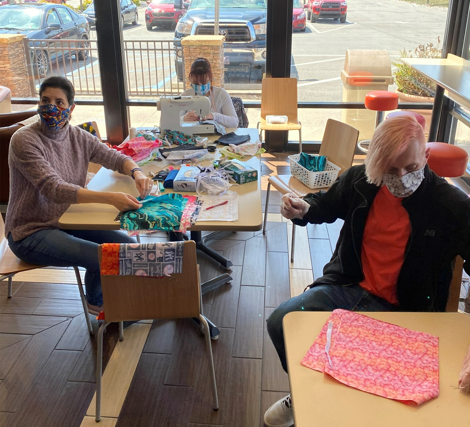 Keeping America Runnin': Pennsylvania Dunkin' Makes Facemasks for Local Assisted Living Facility