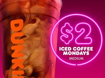Dunkin' Introduces $2 Iced Mondays and Extends Free Donut Fridays for DD Perks® Members