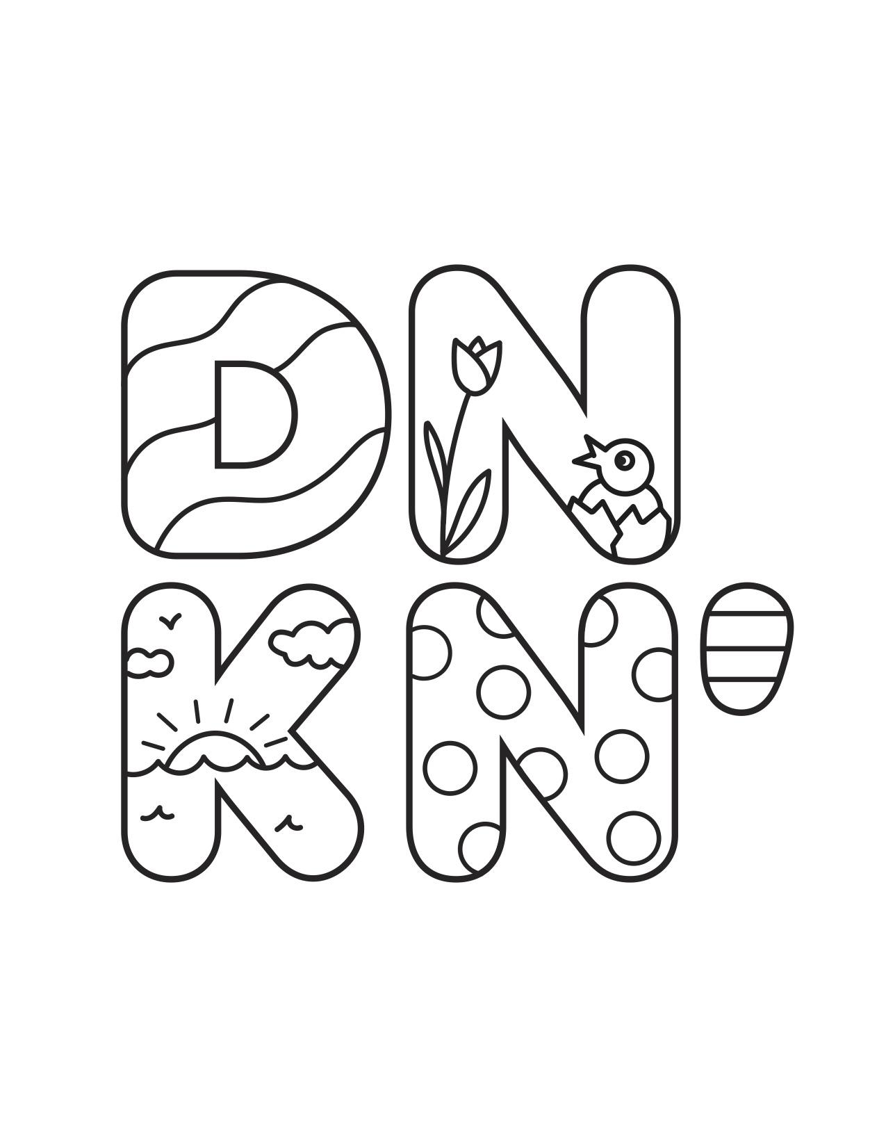 Dunkin' Easter Logo