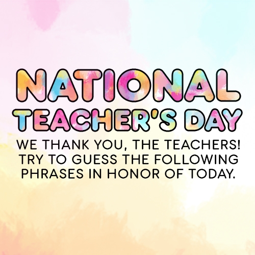 """Send a Colorful """"Thank You"""" This National Teacher's Day"""