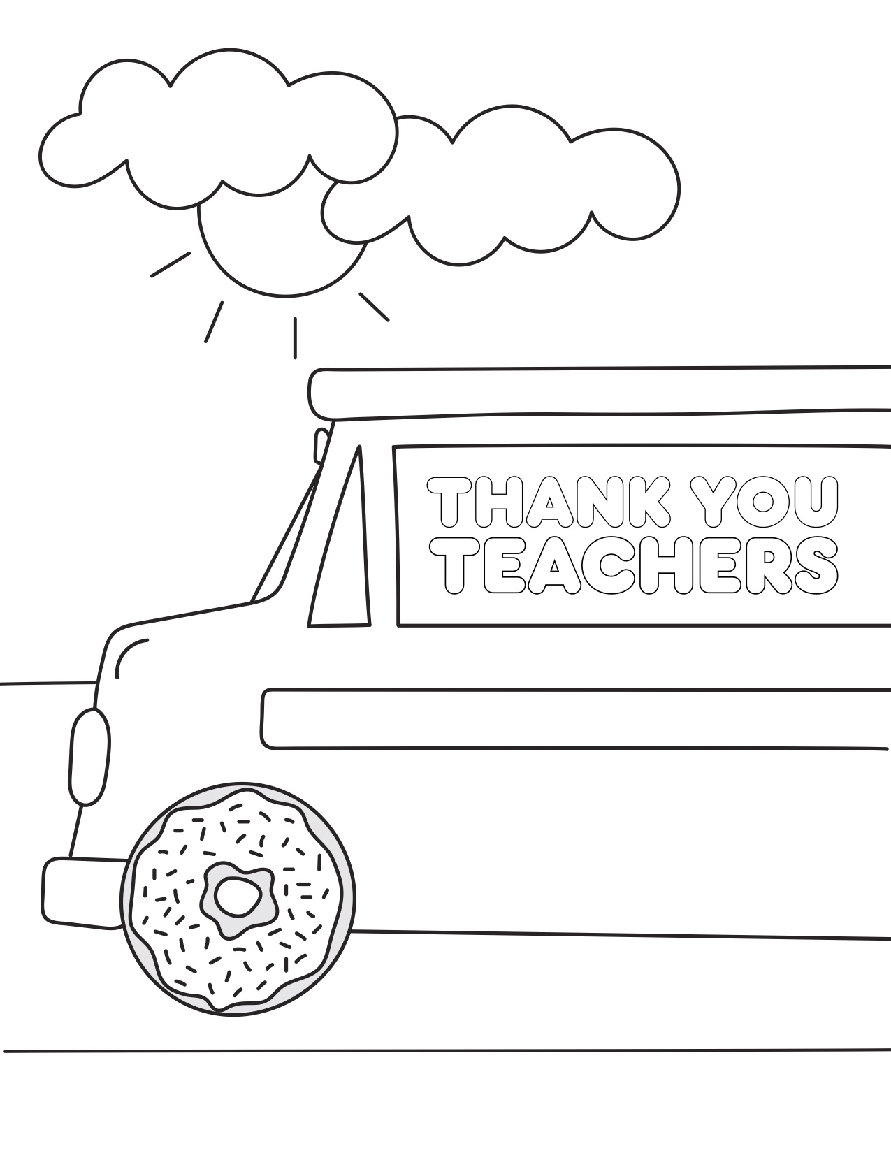 Teacher Appreciation Coloring Pages | Paper Trail Design | 1650x1275