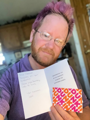Delivering Dunkin': New Hampshire Postal Worker Surprises 2020 Grads with Gift Cards