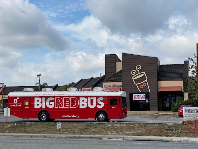 Keeping America Runnin': Florida Franchisees Host Mobile Blood Drives in Dunkin' Parking Lots