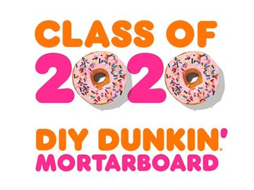 How to Make a DIY Dunkin' Donut Box Graduation Cap