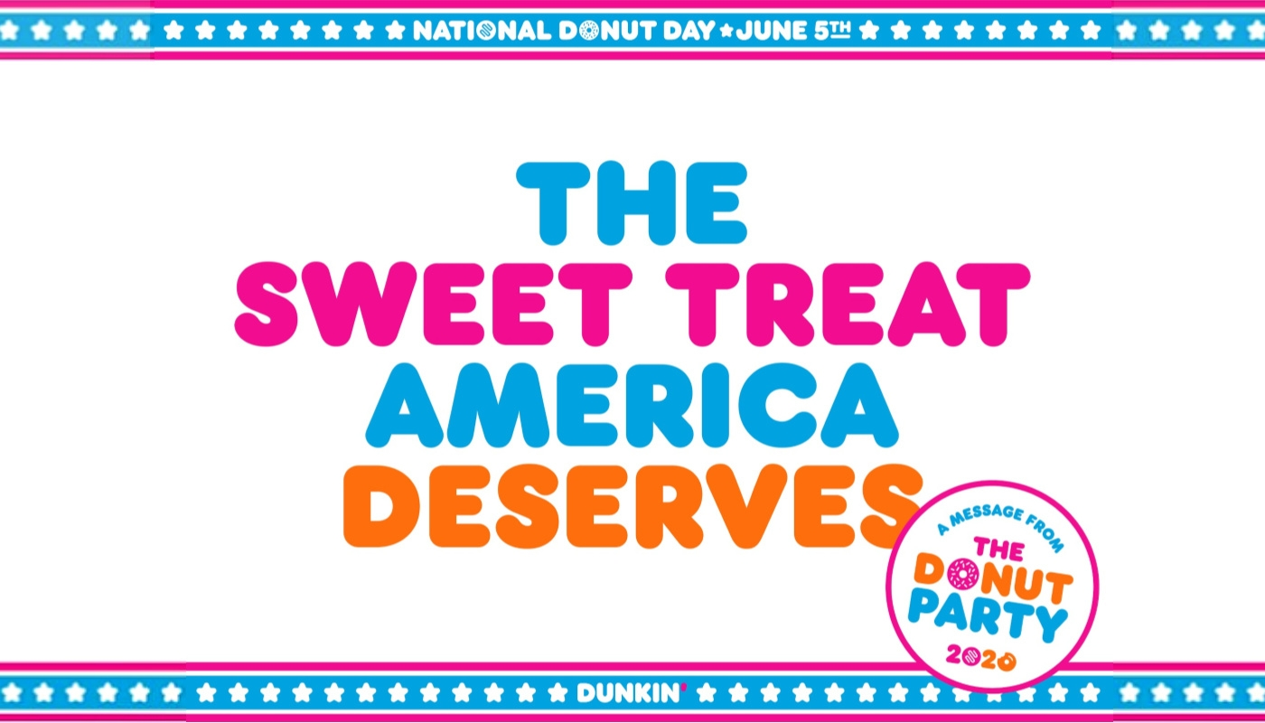 Dunkin' Spoofs Election Year with The Donut Party to Give America the Sweet Treat It Deserves This National Donut Day