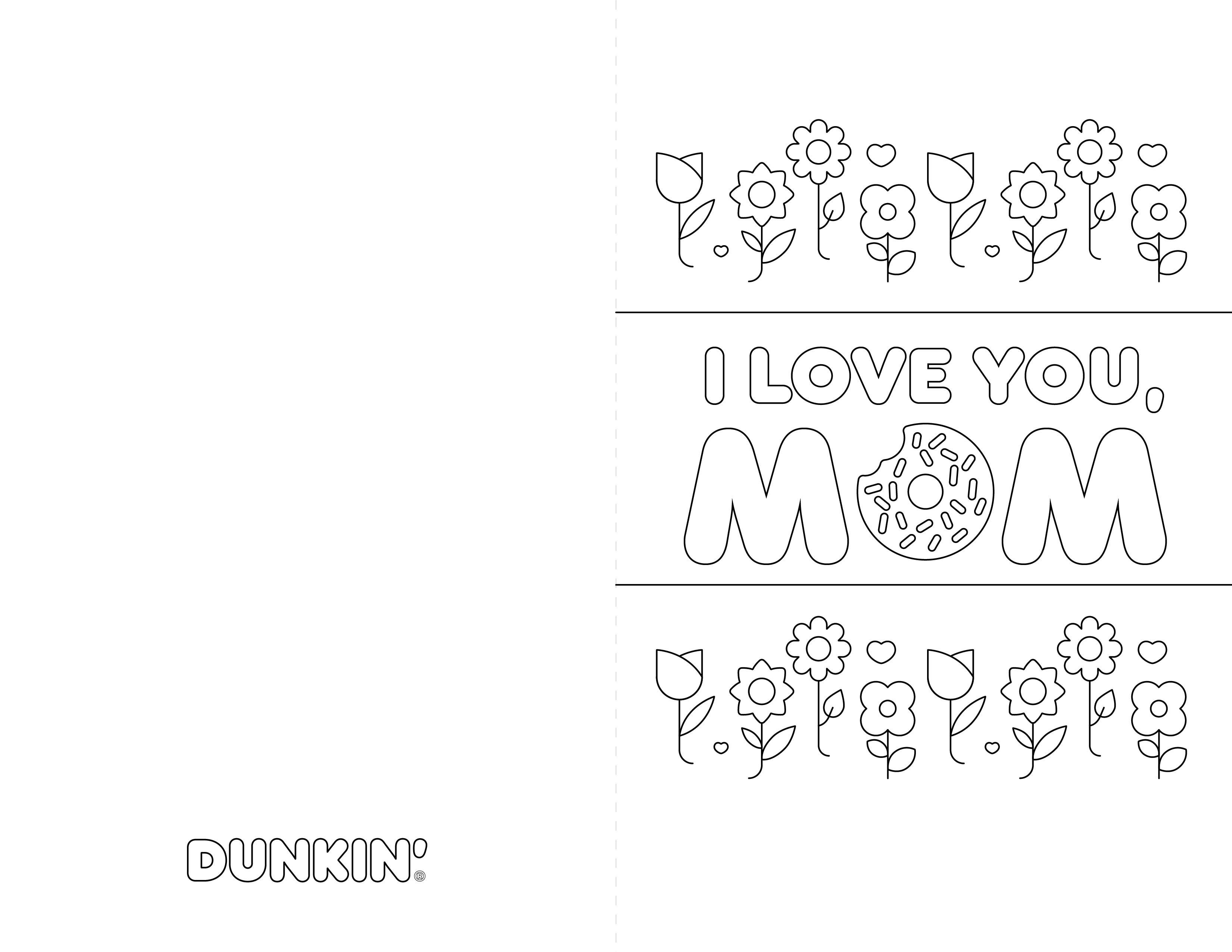 Dunkin-Flowery-Message-Card