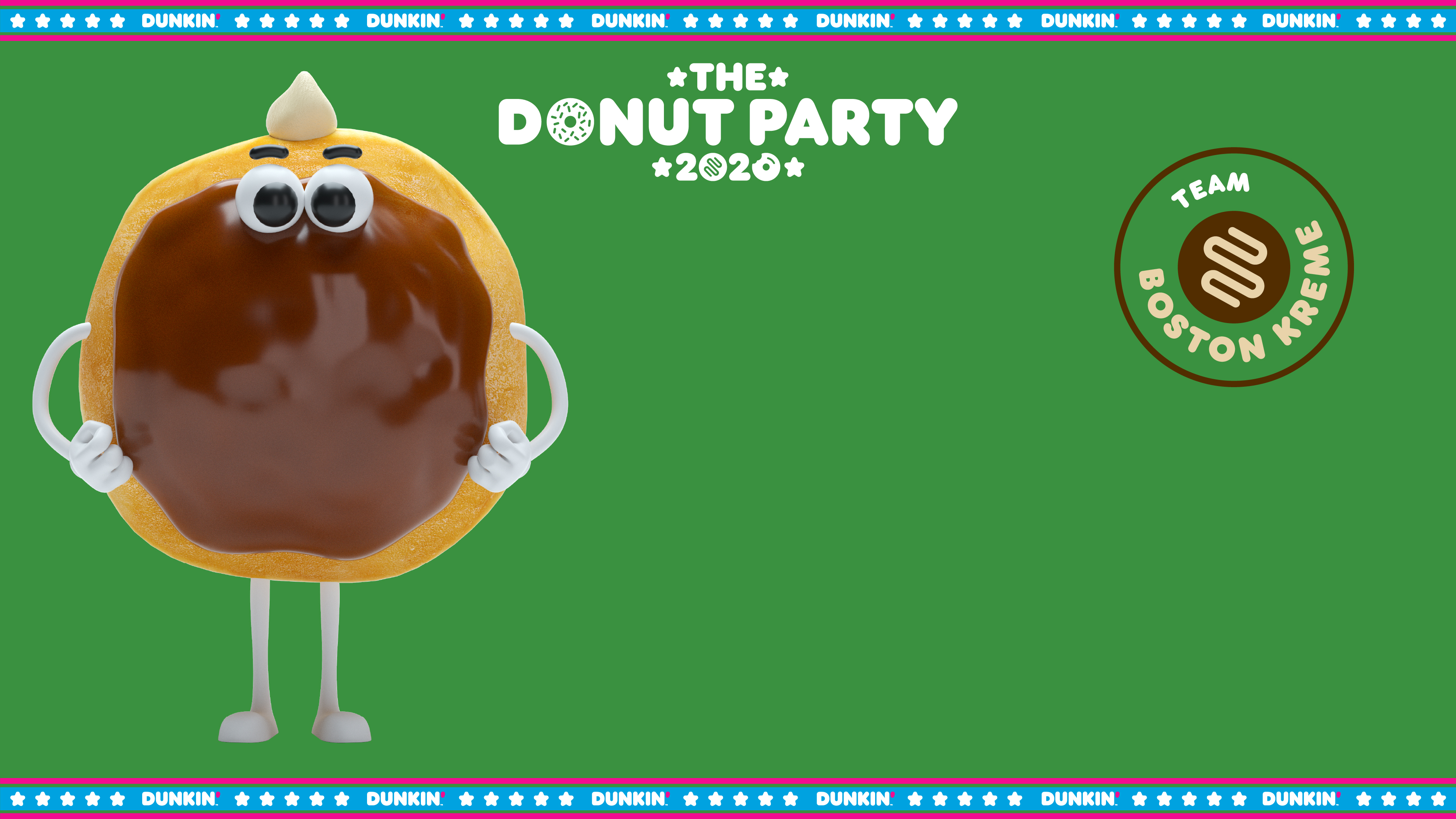Dunkin' National Donut Day Zoom Background