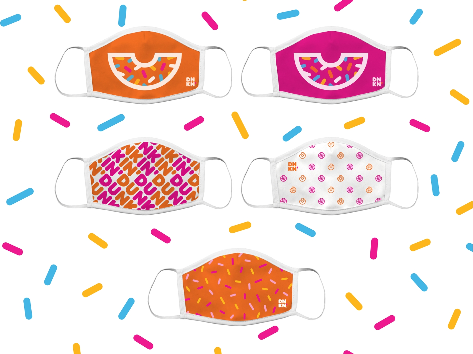 We've Got Your Back, Now We Have You Covered with New Dunkin' Face Masks