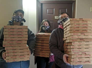 360YS housing during COVID-19_pizza delivery