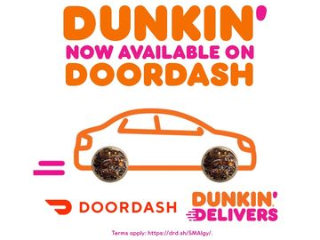 Delivering Sweet News: Dunkin' Delivery with DoorDash Now Available at 3,500 Restaurants Nationwide