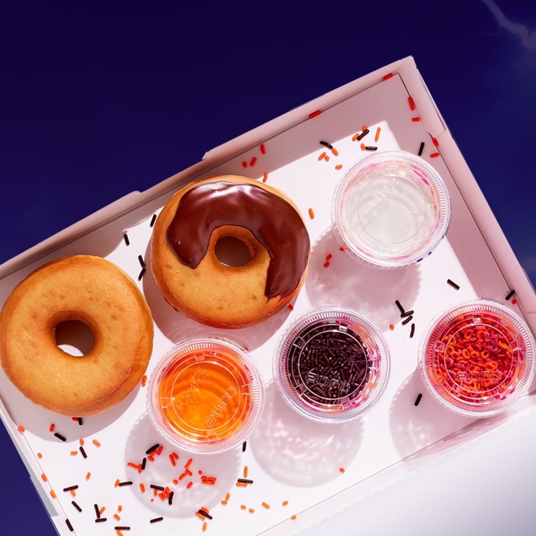 Halloween DIY Dunkin' Donut Decorating Kits
