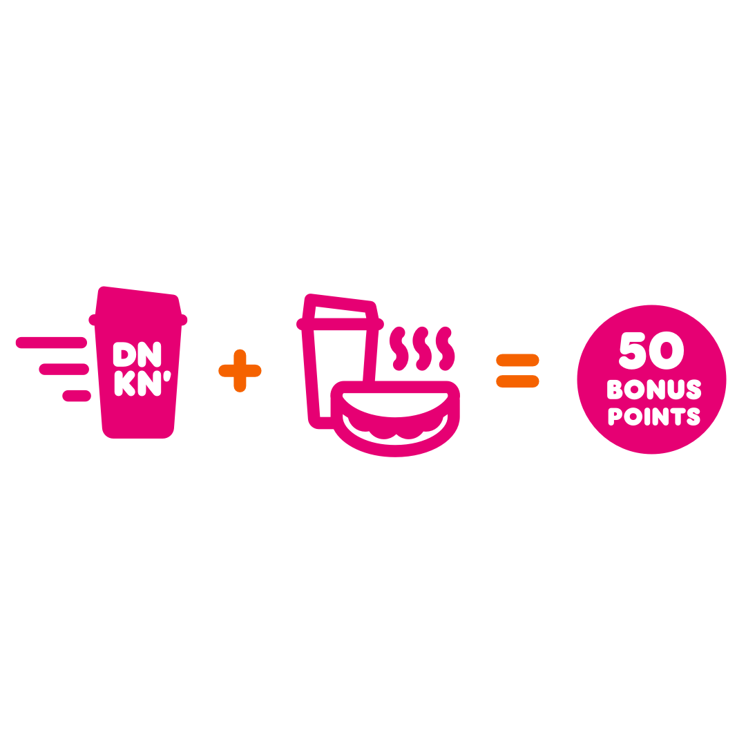 Fuel Your Weekend with 50 Bonus Points from Dunkin'