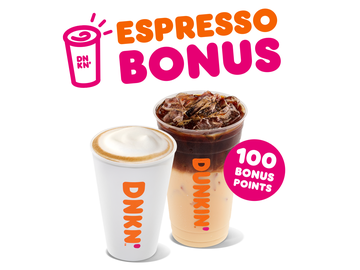 Sip and Earn 100 Bonus Points on Espresso Drinks