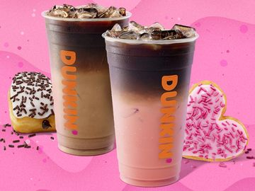The Story Behind Dunkin's Valentine's Day Macchiatos