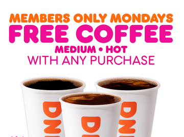 Free Coffee Mondays Heat Up February for Loyal Dunkin' Guests