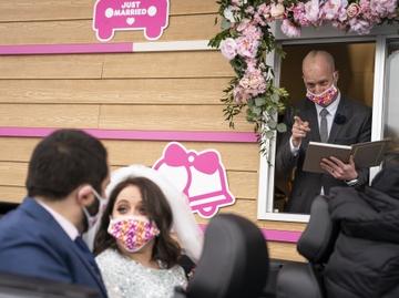 Dunkin' Wedding_Dana and Giancarlo