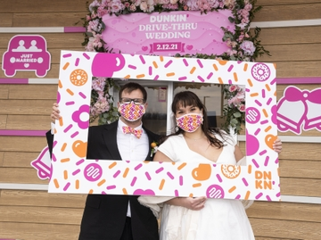 Dunkin' Wedding_Selena and Brian