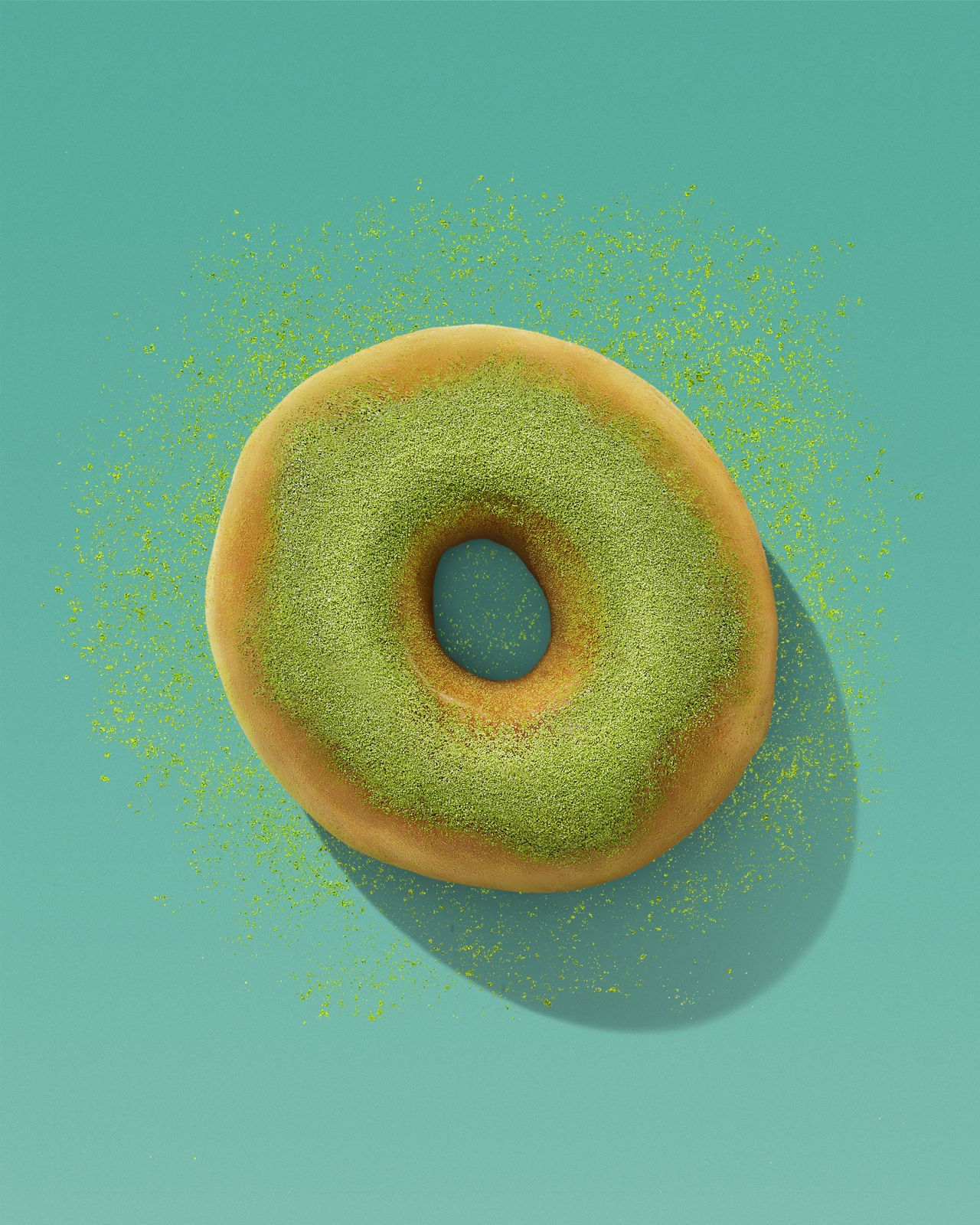 The Story Behind Dunkin's New Matcha Topped Donut