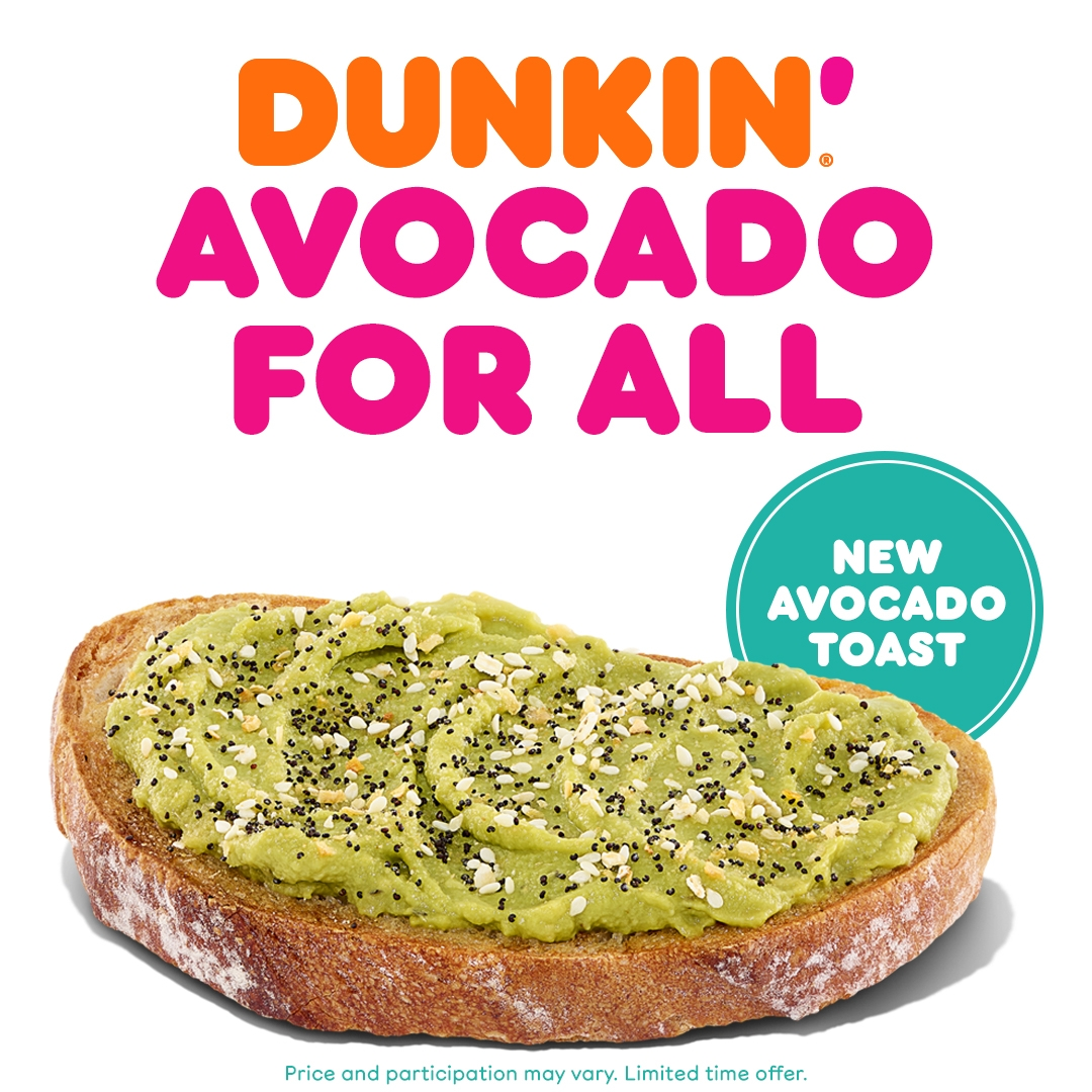 Avo for All: Dunkin' Introduces Avocado Toast