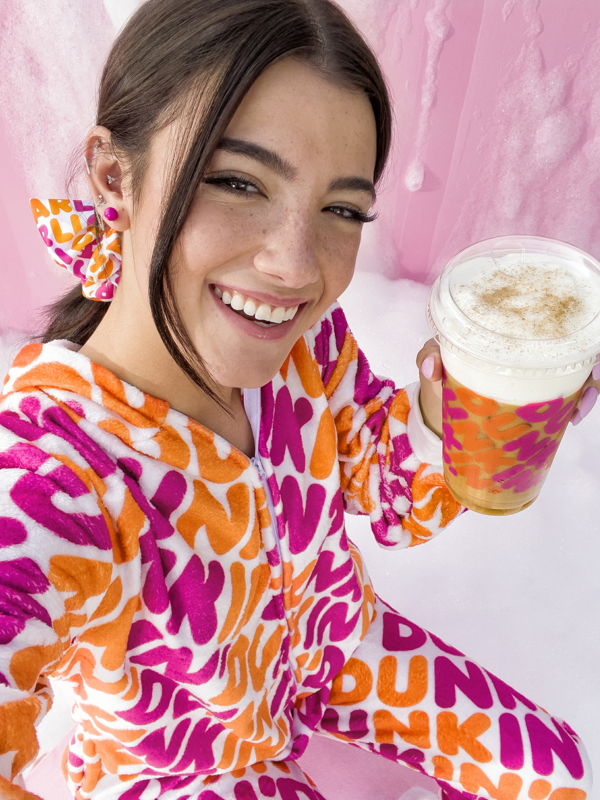 Sip in Style with the Charli x Dunkin' Merch Collection