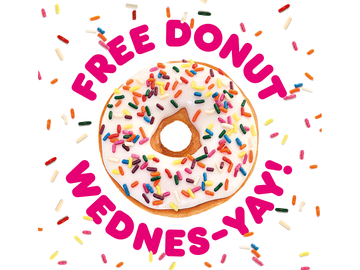"From Wednesday to ""Wednes-YAY"": Dunkin' Launches Free Donut Wednesdays"