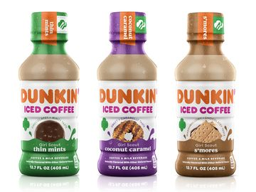 Dunkin' Launches Three New Girl Scout Cookie™ Inspired Bottled Iced Coffees