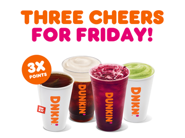 Give Your Friday A Boost With 3X Points on Hot and Iced Drinks