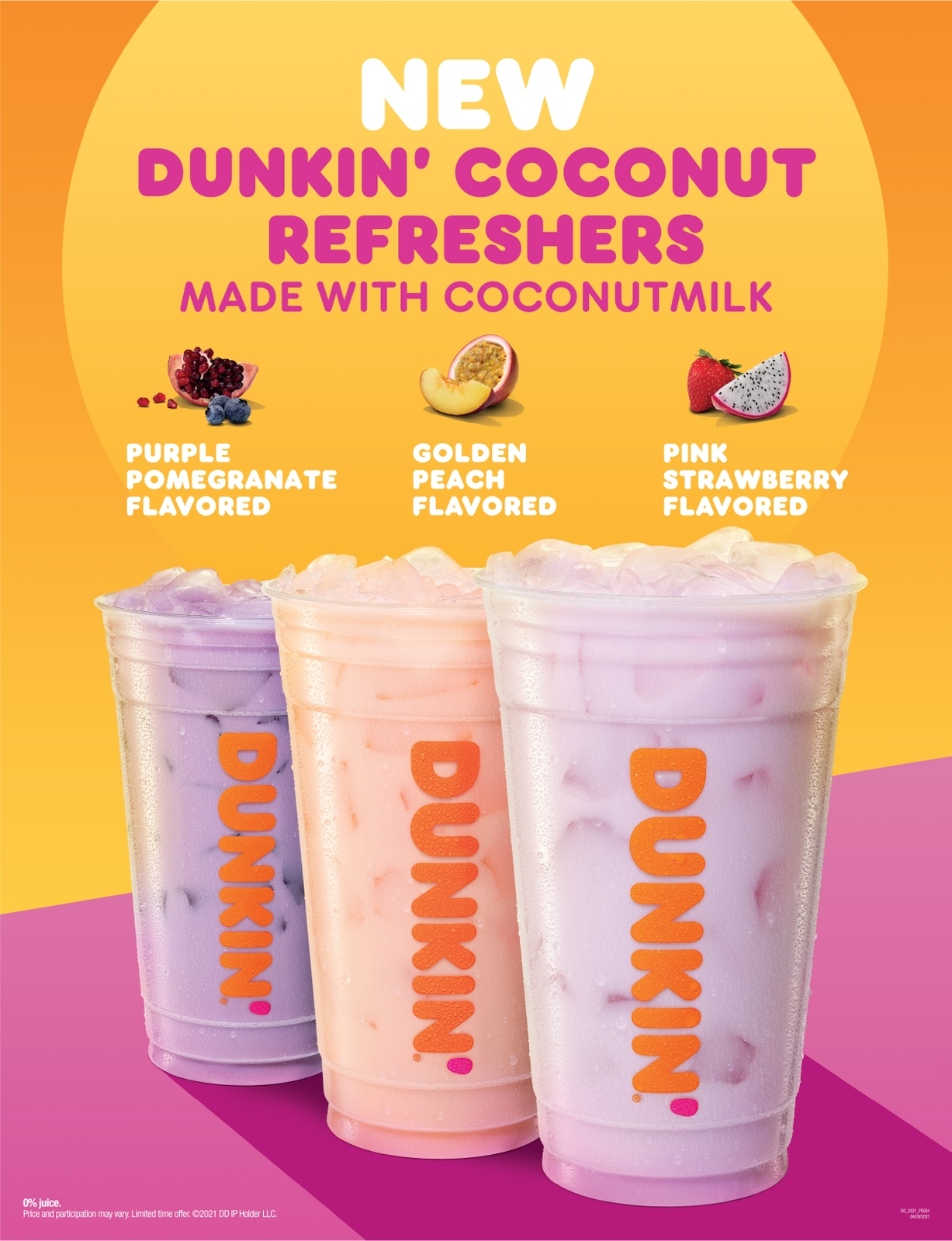 Pouring on More Non-Dairy Choices: Dunkin' Launches Coconutmilk with New Dunkin' Coconut Refreshers and Coconutmilk Iced Latte
