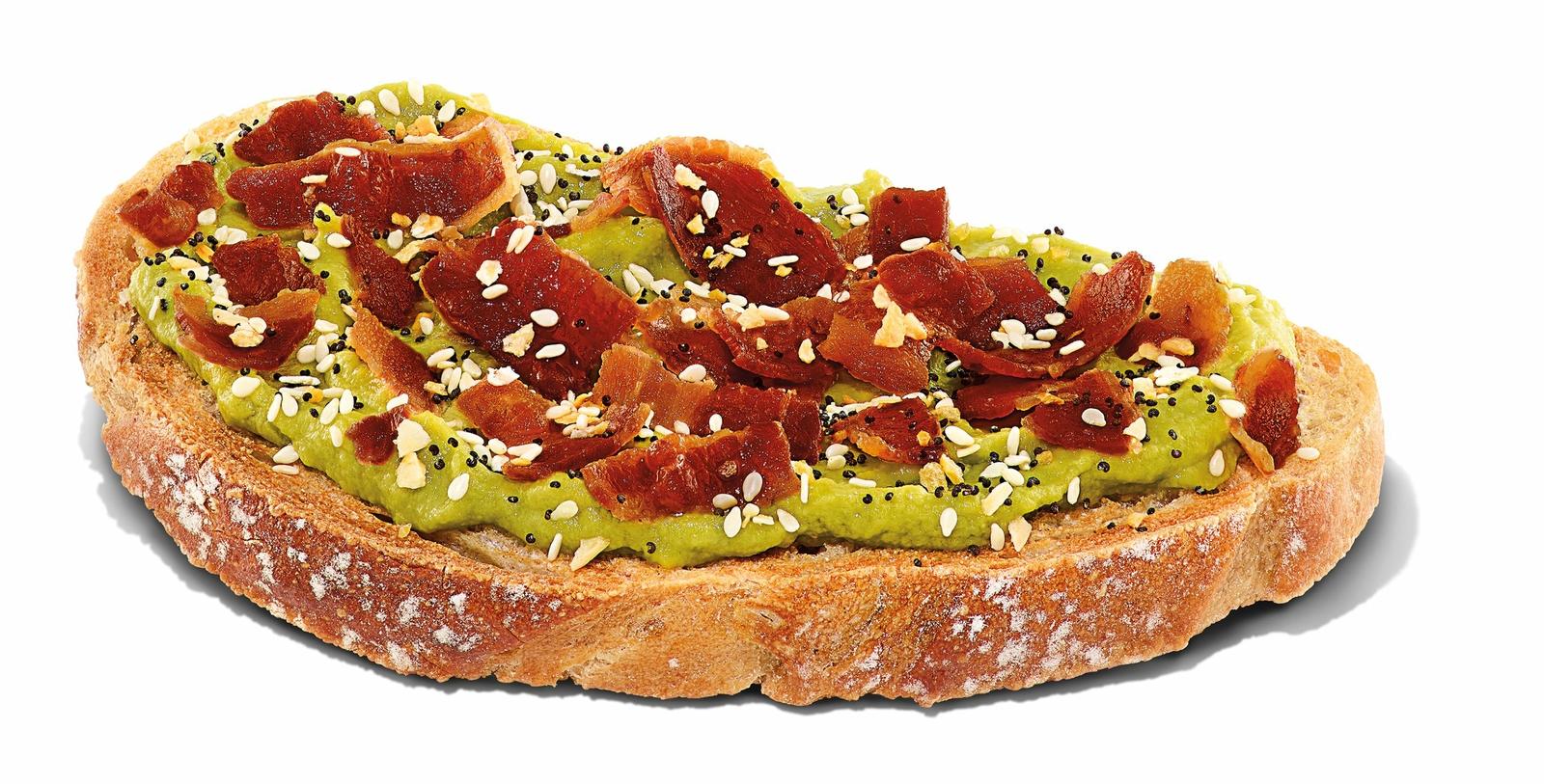 Bacon Topped Avocado Toast