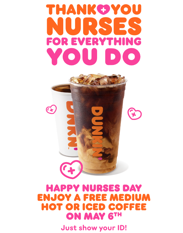 "Dunkin' Says ""Thank You"" to Healthcare Workers on National Nurses Day"