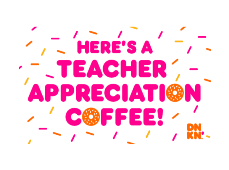 """How to Say """"Thank You"""" with Dunkin' During National Teacher Appreciation Week"""