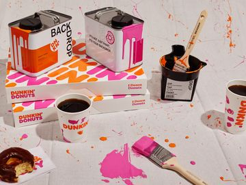 Start Spreading the News: Dunkin' Teams Up with Backdrop for First-Ever Paint Collection