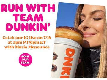 Dunkin' Launches Live Social Event Series with Maria Menounos and Restaurant Team Members for a Look at Life Behind the Counter