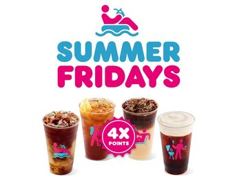 Dunkin' Summer Fridays Bring 4X Points on All Iced Drinks for DD Perks® Members