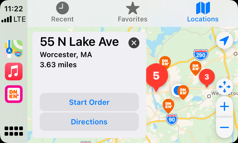 The Dunkin' App is Now Available in Apple CarPlay for your iPhone!