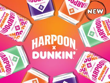 Harpoon Brewery and Dunkin' Craft Three New Beers for Fall