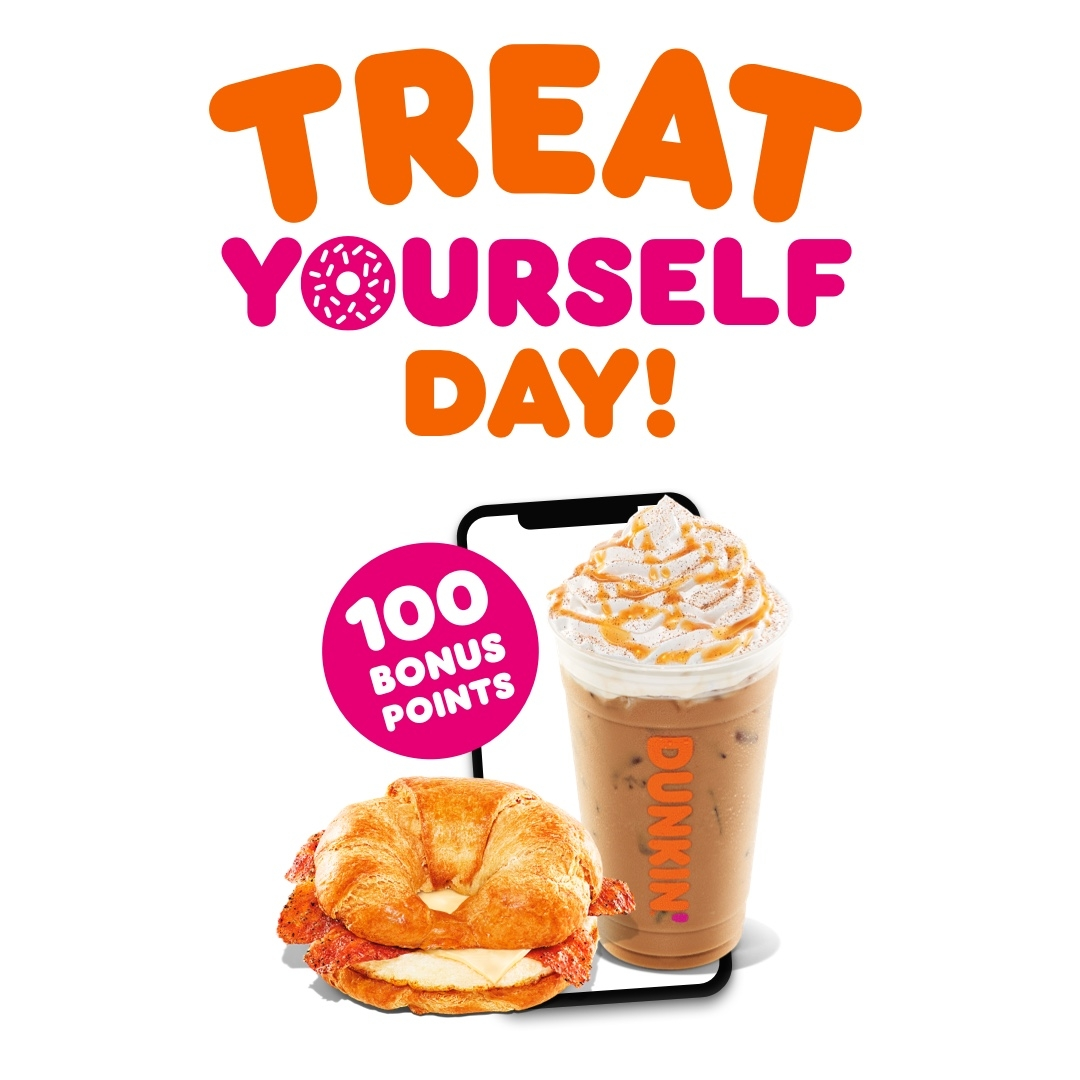 Celebrate National Treat Yourself Day 10/13, Earn 100 Bonus Points with Order Ahead