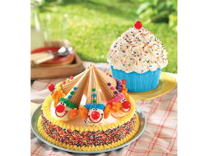 Too Cute Cupcake Cake and Clown Cake