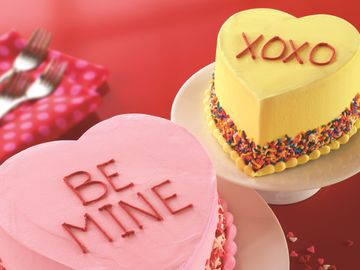 BASKIN-ROBBINS SHARES ITS PASSION FOR ICE CREAM THIS VALENTINE'S DAY WITH CLASSIC LOVE POTION #31® FLAVOR OF THE MONTH AND CONVERSATION HEART CAKES