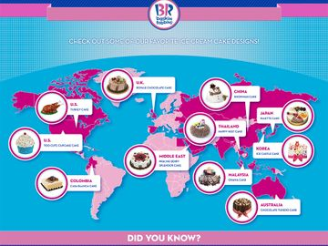Baskin-Robbins Ice Cream Cake Inforgraphic