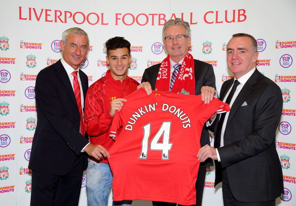 DUNKIN' BRANDS ANNOUNCES GLOBAL MARKETING PARTNERSHIP WITH LIVERPOOL FOOTBALL CLUB