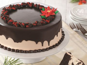 Baskin-Robbins Rings in the Holiday Season with New Ganache Poinsettia Ice Cream Cake and Peppermint & Winter OREO® Cookies Polar Pizza™ Ice Cream Treat