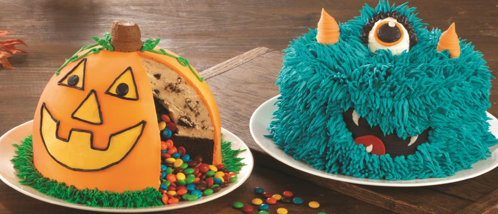 Silly Monster Cake and Pinata Pumpkin Patch Cake