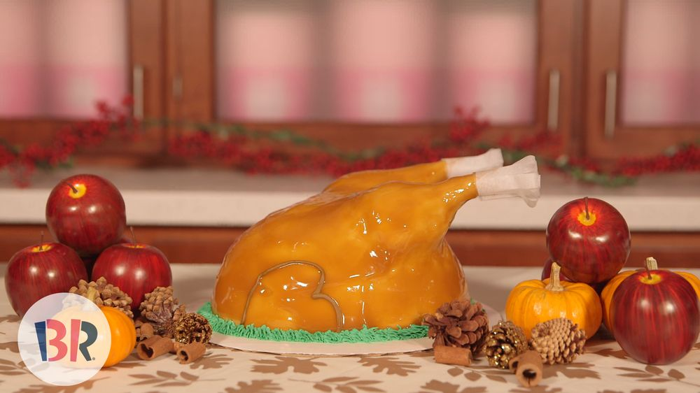 How to Carve a Baskin-Robbins Ice Cream Turkey Cake