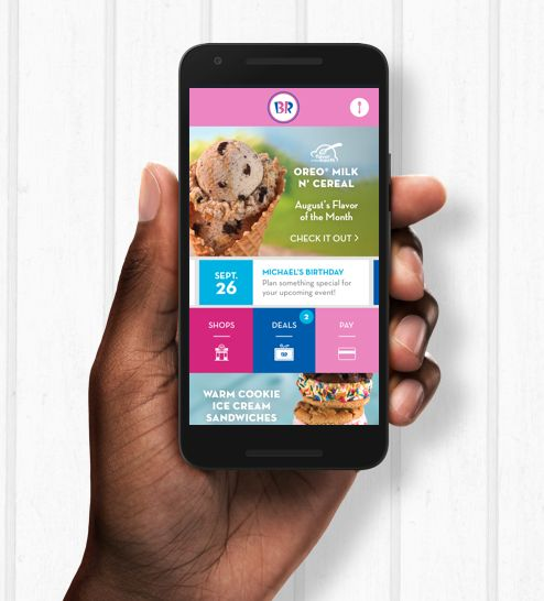 "Baskin-Robbins Celebrates its ""App-iversary"""